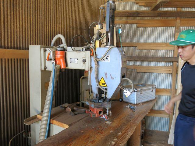 古い埋め木専用の機械
