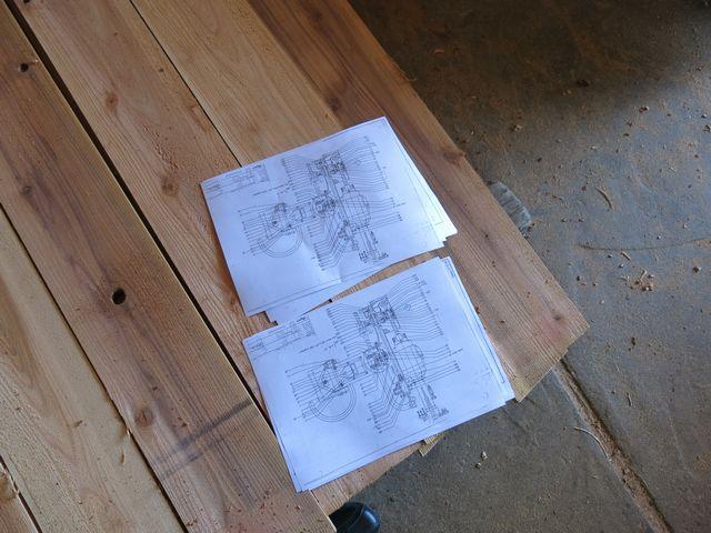 機械の設計図